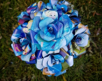 Frozen Elsa Book Bouquet-Decor-Wedding-Bridal Bouquets-Book lover gift-Disney- valentines
