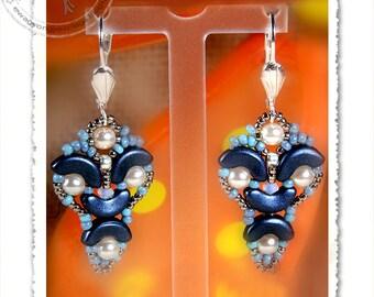 Rivana  beaded earrings PDF pattern