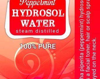 Peppermint Hydrosol facial toner cooling sensation cools hot flashes