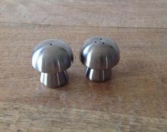 Salt and pepper shakers mushroom duo