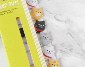 Cat Sticky Bookmarks - Cat Sticky Bookmarks