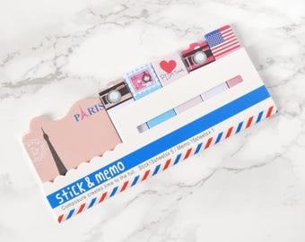 Paris Sticky Note Pad - Travel Sticky Notes Pad - Voyage Sticky Notes - Bon voyages Sticky Notes - Travel Sticky Notes