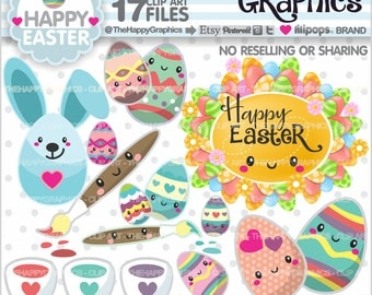 80%OFF - Easter Clipart, Easter Graphics, COMMERCIAL USE, Spring Cliparts, Planner Accessories, Spring Clip Art, Easter Party, Eggs