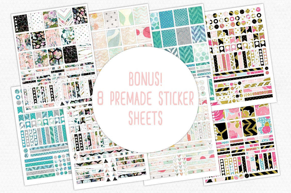 PLANNER STICKER TEMPLATES Big Bundle Personal or Commercial Use ... for Planner Stickers Template  165jwn