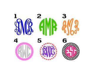 BOGO Sale Monogram Decals - Sale Monogram Decals - Tumbler Cup Monogram - Custom Cup Decal - Color Monogram Decal - Initial Decal - Monogram