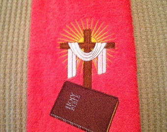 Beautiful Easter embroidered towel