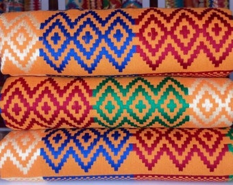Woven Kente Cloth; Kente Cloth;African Kente Cloth;Colorful Kente Cloth;Kente