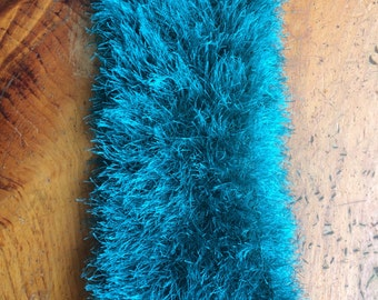 Teal and Fuzzy Cowl
