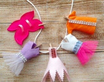 Fairy Garden 3D Clothes, Fairy Washing Line, Fairy Garden Accessories, Set of 5 Fairy Clothes