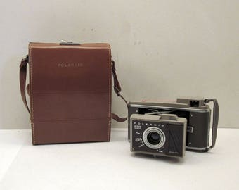 Vintage Polaroid J33 Land Camera with Case & Color Film Adapter