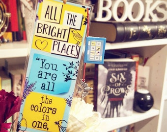 All the brigth places bookmark - Handmade