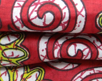 Decorative Cotton Fabric For Sewing Designer Dress Making Fabric Maroon Designer Fabric Printed Cotton Sewing Material By 1 Yard ZBC5370
