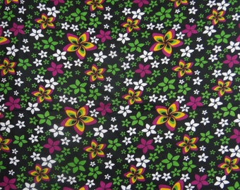 "Dressmaking Fabric Cotton Fabric For Sewing Designer Indian Crafting Sewing Fabric Black 42"" Wide Floral Printed Fabrics By The Yard ZBC6160"