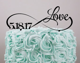 Wedding Cake Topper, Personalized Cake Topper, Love cake topper, Infinity, Cake Topper, Acrylic Cake Topper, Custom wedding cake topper.