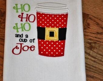 Ho Ho Ho Towel, Christmas Towel, Hand Towel, Embroidered Kitchen Towel, Christmas Kitchen Towel, Holiday Towel, Christmas Decor