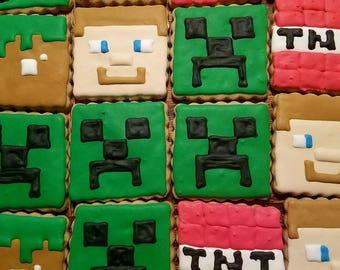 Minecraft cookies  (12)