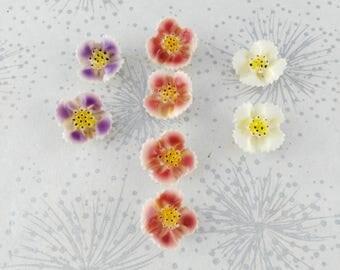 Vintage Flower Snap Fasteners - Sew On Flower Snaps - Vintage Cardigan Fasteners - Gift for Maker - Plastic Flower Snaps