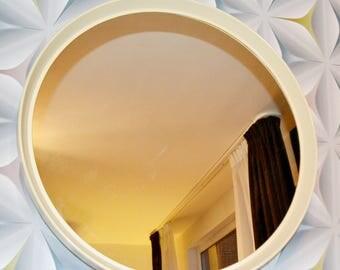 Vintage 70s round mirror
