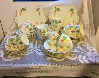 Grafton 37 Piece Art Deco Teaset Teaware