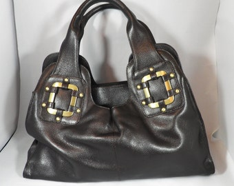 Large Dark Brown Leather Bag by Jones the Bootmaker