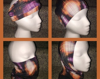 Versatile Headband/Hat/Face Shield all in one! Digital Colorful