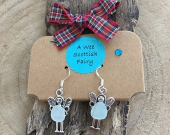 Wee Scottish Fairy Sea Glass Earings