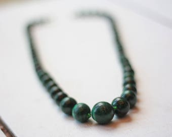 Vintage African Malachite Necklace