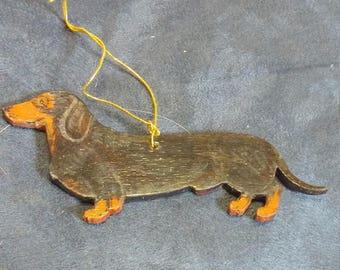 Black and Tan Dachshund dog ornament custom
