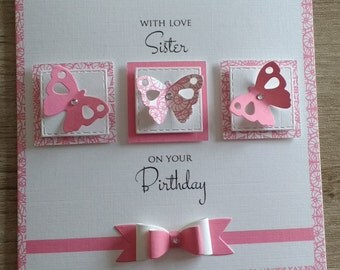 Butterfly Sister Card