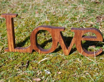 Wooden Love shelf or wall sign