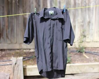 SILK short sleeve shirt black