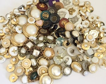 Plastic Snap Together Buttons Metalized Plastic Sewing Buttons Gold and Silver buttons