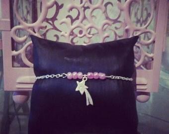 """Make a wish"" bracelet pink"