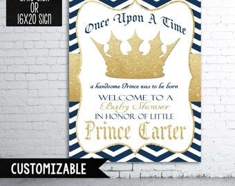 Little Prince Baby Shower Welcome Sign
