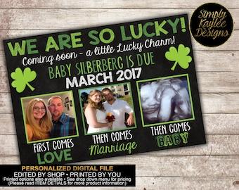 St. Patricks Day Pregnancy Announcement