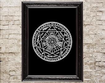 The seal of the seven archangels, Samael, Raphael, Haniel, Michael, Gabriel, Tzafqiel, Tzadkiel, sigil, spell, sorcery, magick, witchery,176
