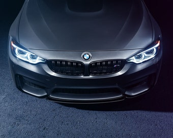 BMW M4 Front Aerial View | automotive photography | automotive prints | car photography | car prints | European Car | 7 size choices