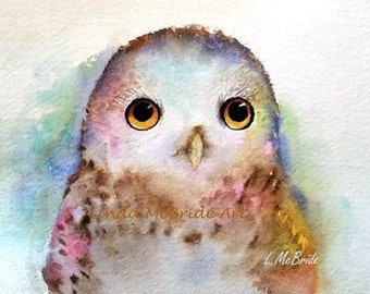 Baby Owl 5x7 Blank Greeting Card with Envelope