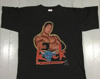 Vtg The Rock WWF T-shirt