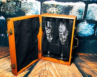 Wedding skull gift set