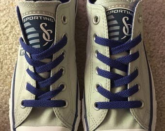 Available Now!!  Size 7 Men's/9 Women's Sporting KC Converse Chuck Taylor Sneakers