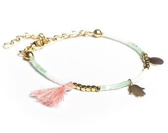 Pink Tassel Bracelet