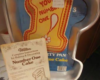 Wilton Number One Cake pan 1979