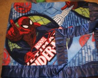 Soft Fleece Spiderman Blanket