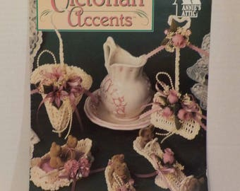 Victorian Patterns Knitting Crochet 11 Patterns Vintage by Annies Attic