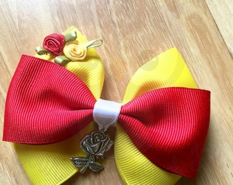 Belle bow, Belle headband, Beauty bow, Beauty headband, Beauty and the beast bow, Beauty and the best headband, Princess bow