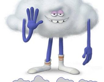Personalized Trolls Cloud Guy T shirt All Sizes Cloud Guy Trolls T shirt You choose name