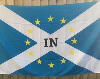 "5ftx 3ft Scotland ""IN"" EU European Union Referendum Vote Flag"