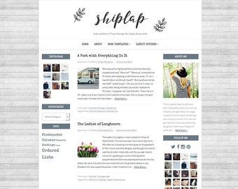 Shiplap Wordpress Theme, Genesis Child Theme, Blog Design, Blog Template, Website Design