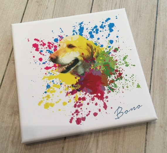 Custom Dog Art on Wrapped Canvas - Made to order